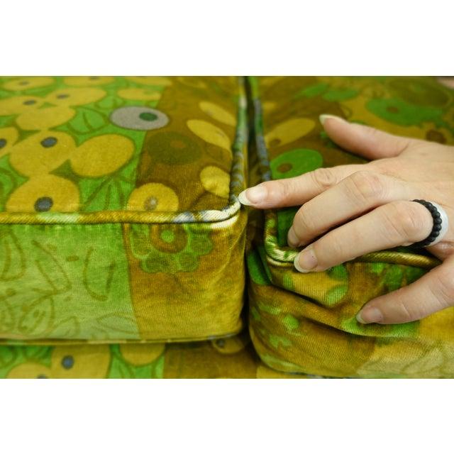 1960s Mid Century Modern Loveseats Upholstered in Jack Lenor Larsen Fabric -A Pair For Sale - Image 5 of 8