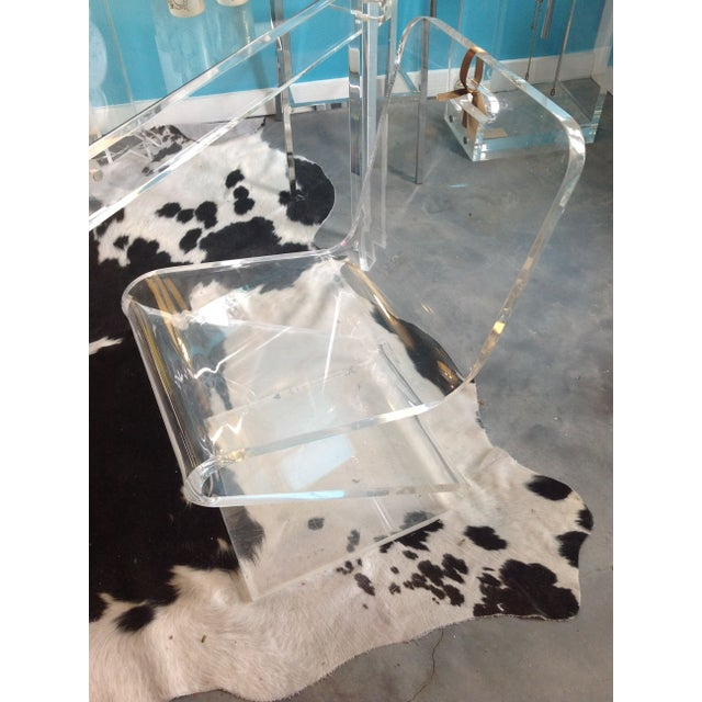 Vintage Lucite Z Chair - Image 3 of 6