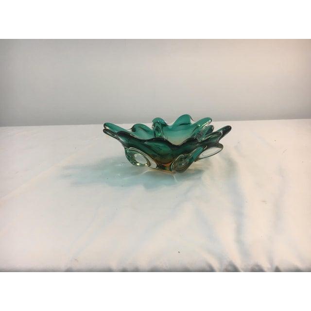 Blue Scalloped Murano Glass Bowl - Image 2 of 6