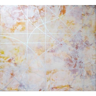 """Gudrun Mertes-Frady """"Sun Dance"""" Abstract Colorful Painting on Canvas For Sale"""