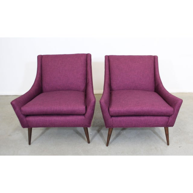 Pair of Mid-Century Modern Paul McCobb Style Lounge Chairs For Sale - Image 4 of 12