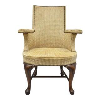 Vintage Baker Furniture Queen Anne Style Armchair