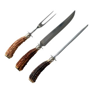 Sheffield Carving Utensils - Set of 3 For Sale