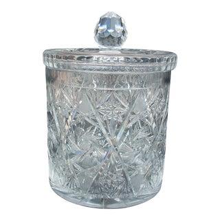 Vintage Cut Crystal Biscuit Jar