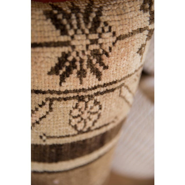 Boho Chic Reclaimed Vintage Turkish Rug Fragment Lumbar Pillow For Sale - Image 3 of 8