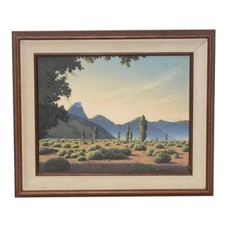 Michael Sarraille Illuminated Rocky Mountain Landscape Oil Painting