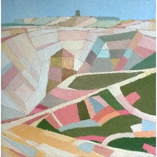 Contemporary Oil Painting by Andy Dobbie, Sunny Day on Parys Mountain For Sale