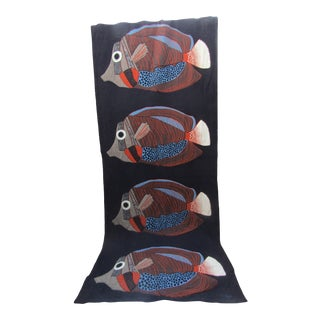 Custom Quilted Fish Tapestry