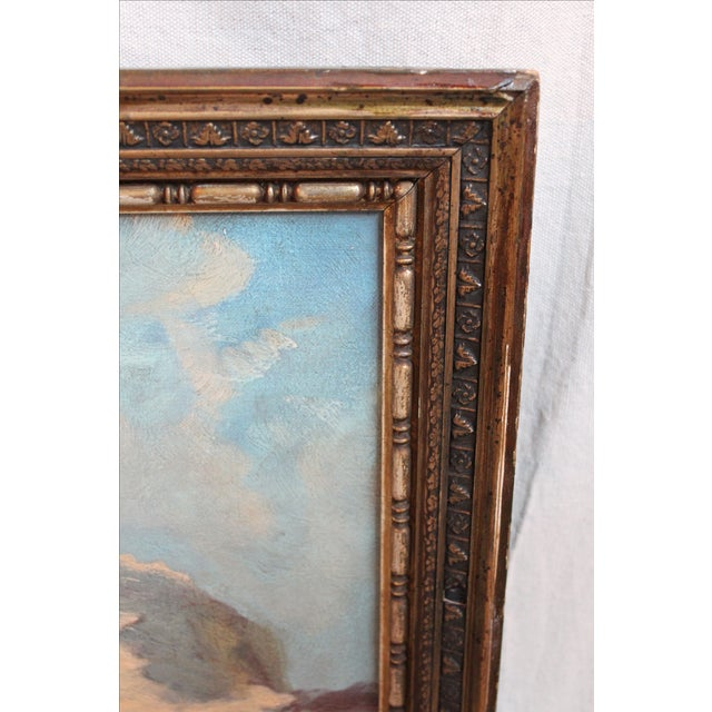 19th C. Mountain Landscape Painting For Sale - Image 4 of 4