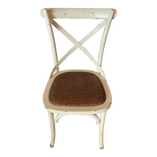 Country Cross Back Braided Seat Chair For Sale