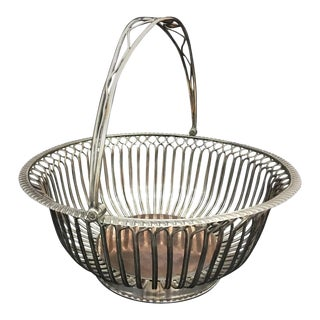 1805 English Regency Sheffield Plate Bread Basket For Sale