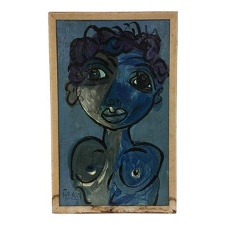 The Blue Lady Oil Painting
