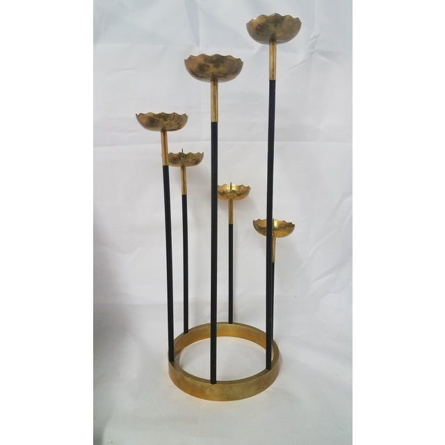Mid-Century Modern Mid-Century Brass Candle Stick Holder For Sale - Image 3 of 11