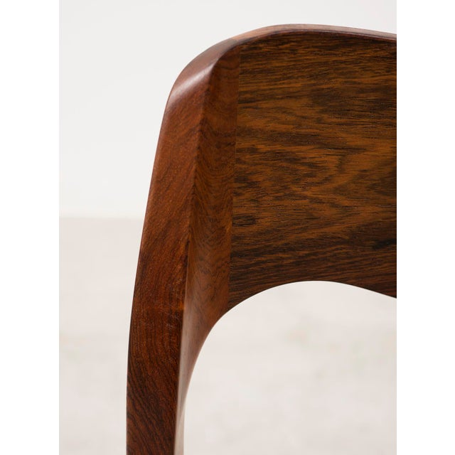 Set of Six Niels Moller Dining Chairs Model #71 in Rosewood and Velvet Mohair For Sale - Image 9 of 11