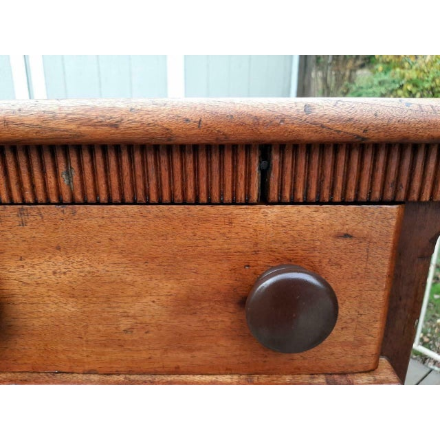 Late 1700's Early 1800's Antique Primitive Farmhouse Solid Chestnut Chest of 5 Drawers For Sale - Image 12 of 13