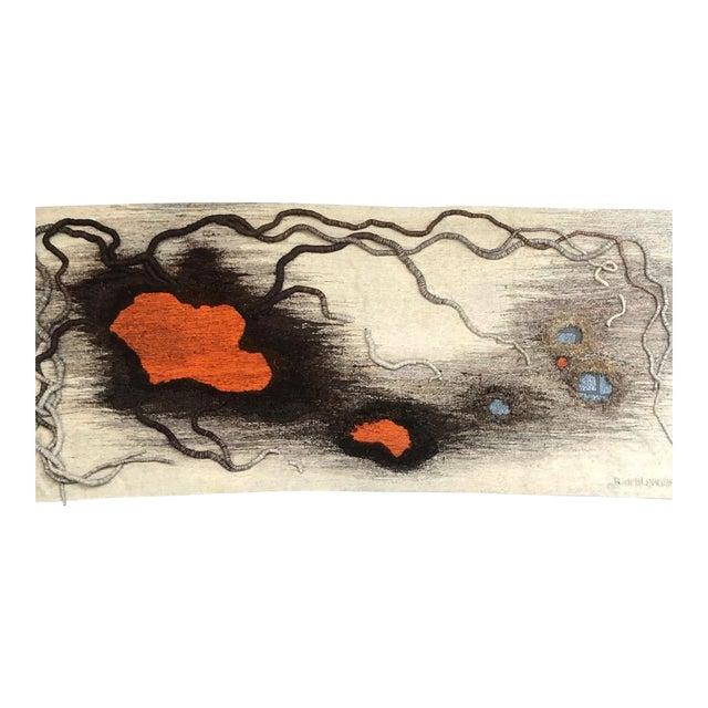 "Contemporary Tapestry by Anne De Blander, ""Timanfaya"" For Sale"