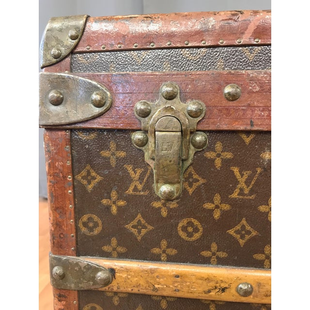 1950s Louis Vuitton Monogram Lady's Steamer Trunk For Sale - Image 10 of 13