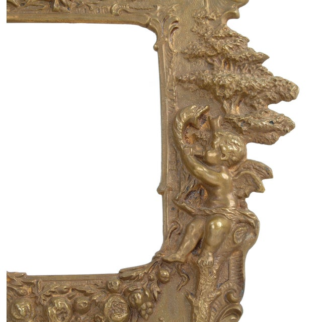1970s 1970s Bronze Frames With Angel Motifs - Pair For Sale - Image 5 of 8