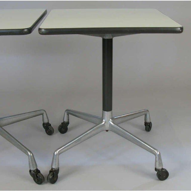 1970s Eames for Herman Miller Aluminum Group Tables - a Pair For Sale - Image 5 of 8