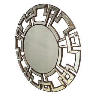 Round Greek Key Motif Mirror