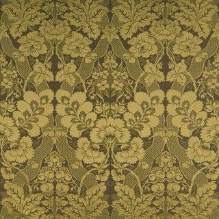 Sample, Suzanne Tucker Home Aurora Silk/Cotton Damask Fabric in Olive