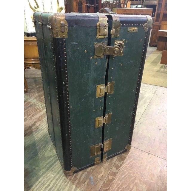 Antique Hartmann Wardrobe Steamer Luggage For Sale - Image 12 of 12