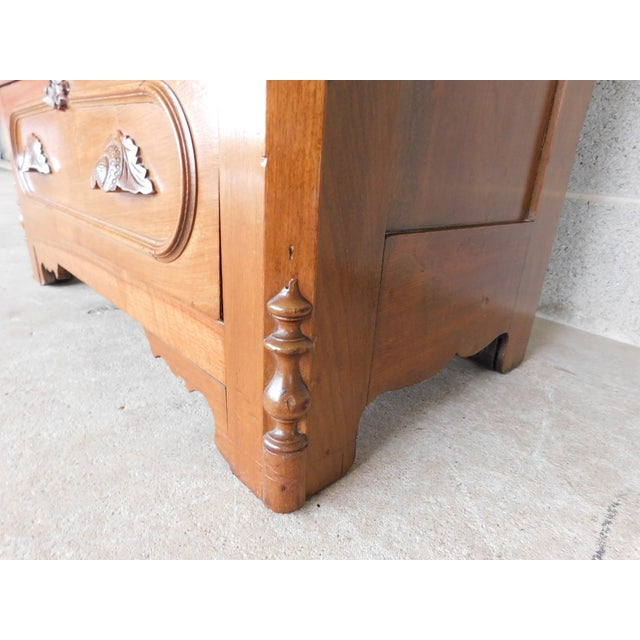 Antique Victorian Walnut Cottage Chest For Sale - Image 12 of 13