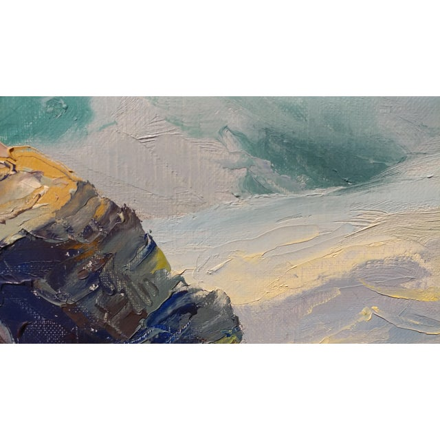 Paint Bennett Bradbury California Seascape Oil Painting on Canvas For Sale - Image 7 of 10