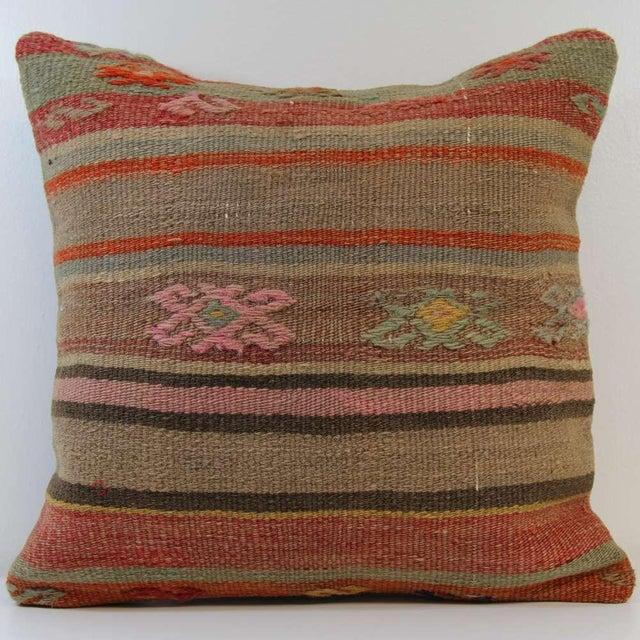 Turkish Handmade Kilim Pillowcase - Image 2 of 5
