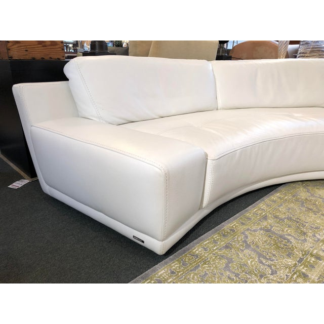 Roche Bobois Solstice Curved Sectional + Ottoman From Roche Bobois For Sale - Image 4 of 12