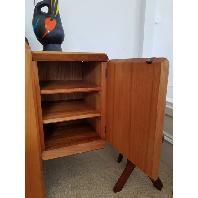 """1970s Pierre Chapo """"R28"""" Elm Sideboard For Sale - Image 5 of 7"""