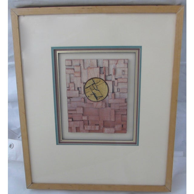 "1960's Harris Strong tile entitled, ""Taos"" by DeBarde. Triple matted, thick ash frame. We love the chinoiserie feeling to..."