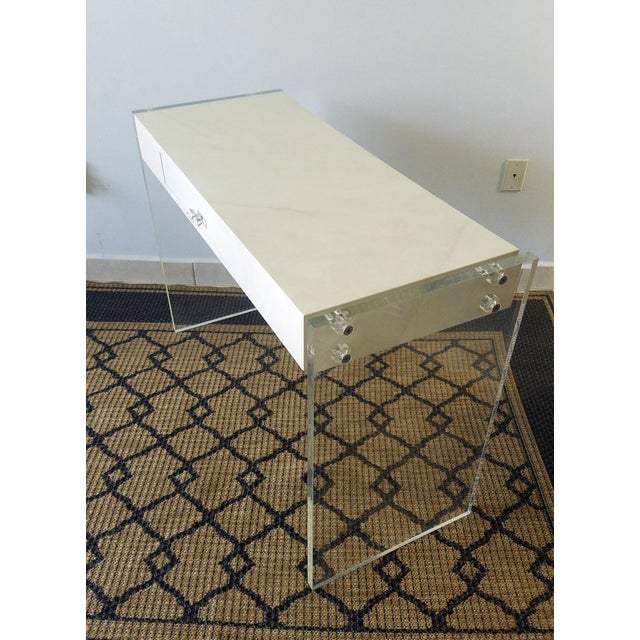 This is a mid-Century (60s) Desk in perfect condition ready for use.This desk has been retouched in its wooden part making...
