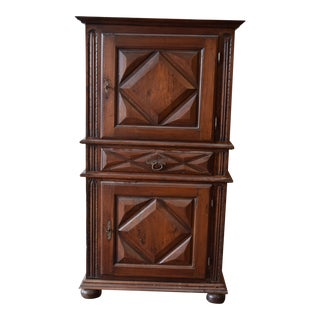 19th Century French Country Walnut Armoire For Sale