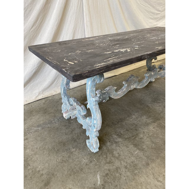 Tuscan Painted Trestle Dining Table For Sale - Image 10 of 13