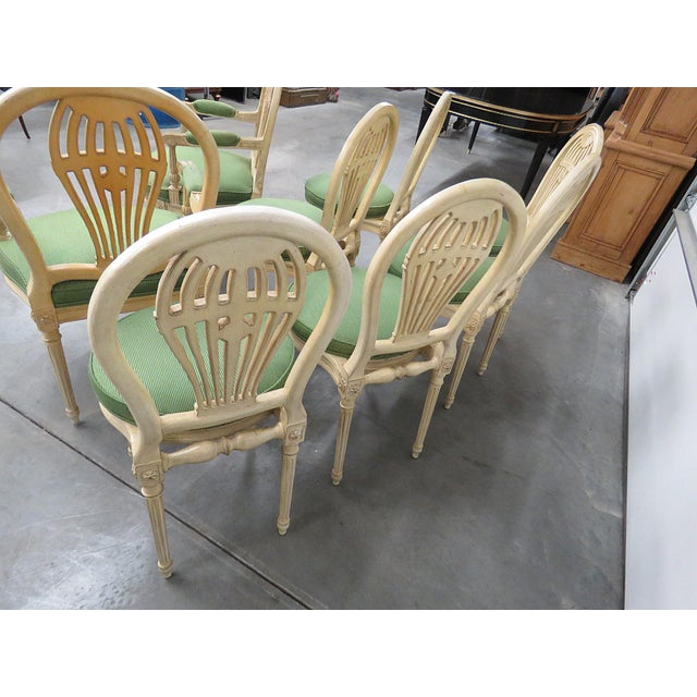 Mid 20th Century Vintage Mid Century Maison Jansen Style Dining Chairs- Set of 8 For Sale - Image 5 of 8