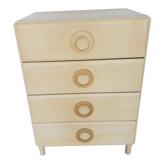 1950s Mid-Century 4-Drawer Chest of Drawers For Sale