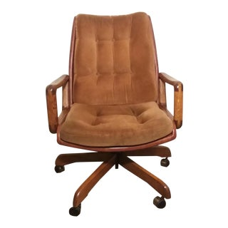 Executive Office Chair Wood Leather Swivel For Sale