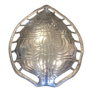 1970s Vintage Arthur Court Aluminum Turtle Shell Sconce For Sale