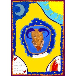 """Aires Horoscope"" Contemporary A4 Giclée Print For Sale"