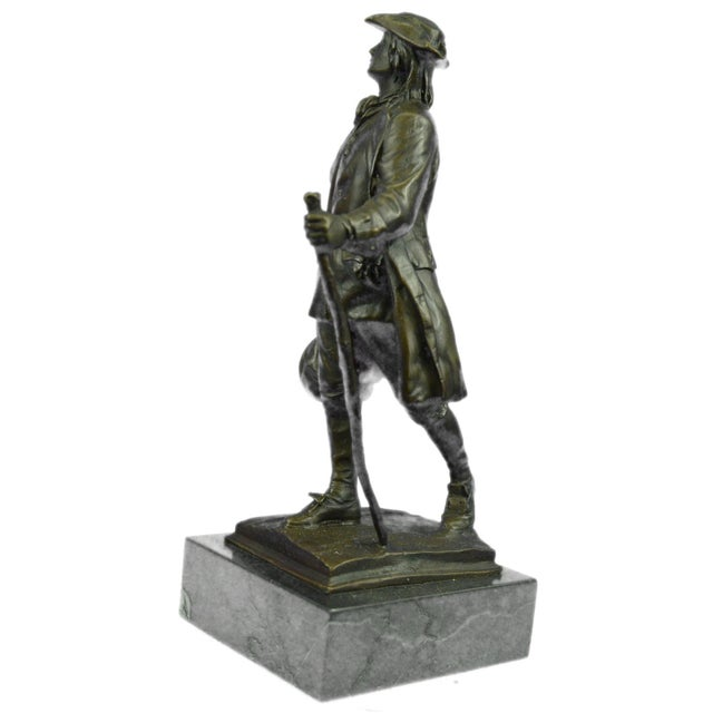 Benjamin Franklin Bronze Sculpture - Image 6 of 9
