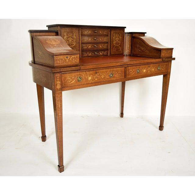 1900s English Carlton Desk - Image 4 of 11
