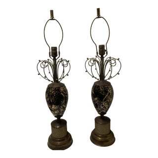 Mid-Century Modern Abstract Lamps - a Pair For Sale