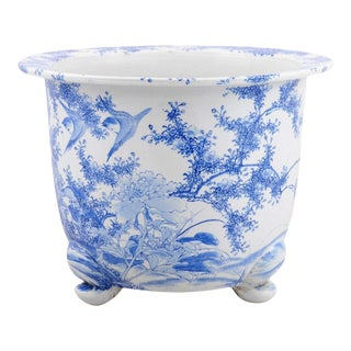 Late 19th Century Chinese Blue and White Planter For Sale