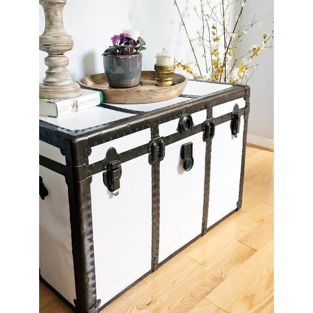 Vintage Steamer Trunk Table - Image 5 of 8