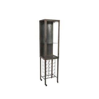 Industrial Bar Cabinet With Wine Rack