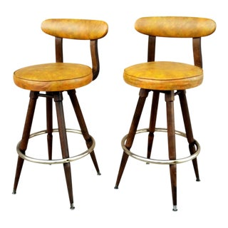 1960s Danish Modern Calorator Barstools - a Pair For Sale