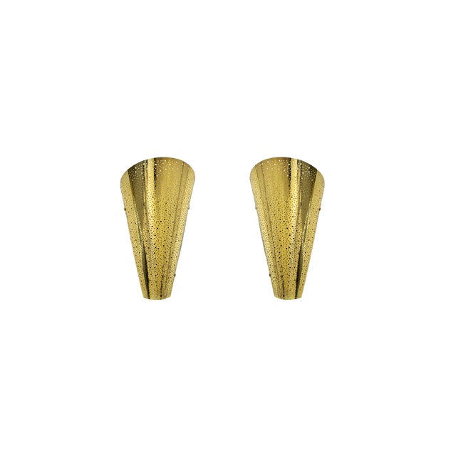 Golden Wall Sconce From Modern Wall. For Sale