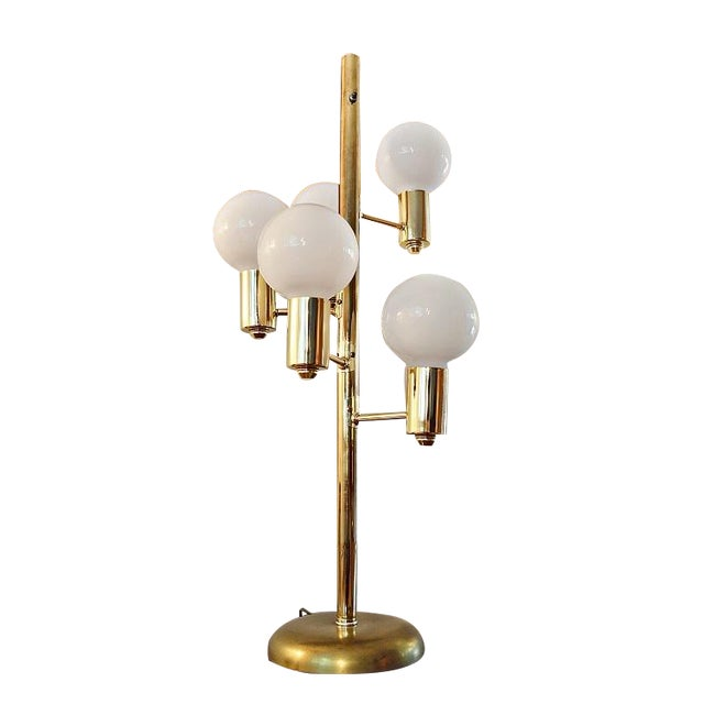 Mid-Century Space Age Descending Ball Table Lamp - Image 1 of 7