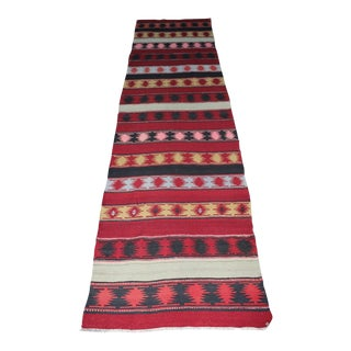 "Oriental Turkish Kilim - 3'3"" x 13'"